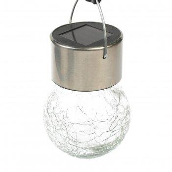 Фонарь садовый на солнечной батарее лампочка прозрачная, 60 х 90 мм, 1 led