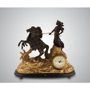 Часы афина (бронза/мрамор-черный)