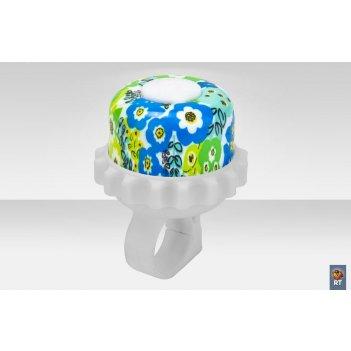 23r-06 звонок алюминий голубые цветы