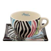 Чайный набор кружка с блюдцем яркий стиль, 150 мл