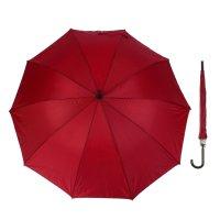 Зонт-трость, полуавтомат, r=56см, цвет бордовый