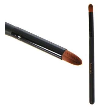 Кисть для макияжа д/ненес теней 15,5см №12/06 скруглен. pvc qf черный