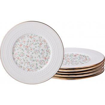 Набор десертных тарелок фабьен из 6шт. диаметр=19см. (кор=16набор.)