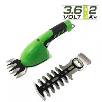 Садовые ножницы-кусторез аккумуляторные greenworks 3,6v без ручки-удлините