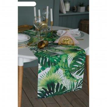 Дорожка на стол этель тропический рай 40х146 см, 100% хл, саржа 190 гр/м2
