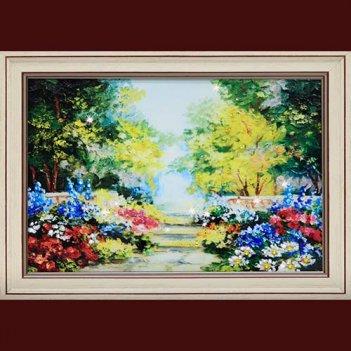 Картина сваровски - цветущий сад