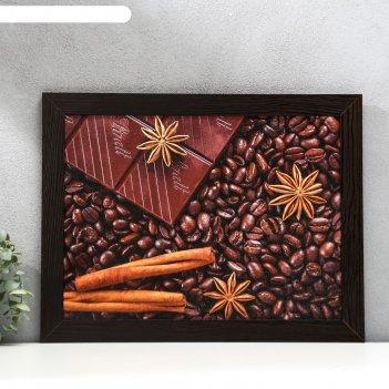 Постер мдф кофе 30х40 см, венге