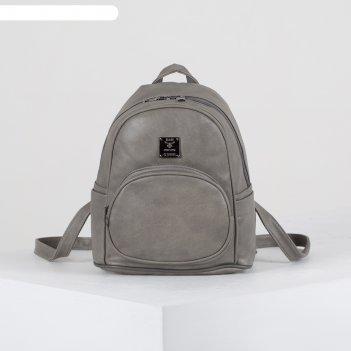 Рюкзак молод эльза, 28*13*24, отд на молнии, 3 н/кармана, серый