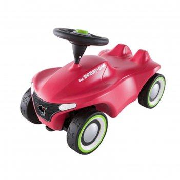 Детская машинка-каталка big bobby car neo, розовая