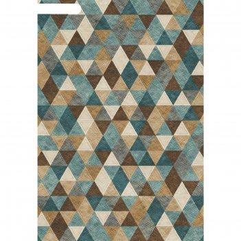 Ковёр хит-сет пп matrix d578, 0,8*1,5 м, прямоугольный, beige-blue