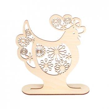 Декоративная форма на подставке петух с цветочным ажуром