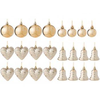 Декоративное изделие:набор шаров бронза 24 шт.(кор=36 наб.)
