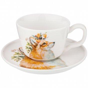 Чайный набор лесная сказка лиса, на 1пер. 2пр. 230 мл  (кор=24шт.)