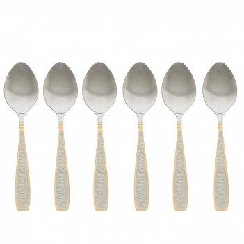 Набор чайных ложек 6 штук золотая легенда l=15см. (нержавеющая сталь) (упа