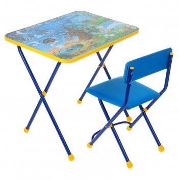 Набор детской мебели познайка. хочу все знать! складной: стол, стул мягкий