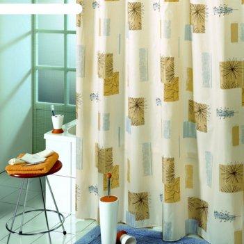 Штора для ванной contrasti, 180х200 см, бежевый