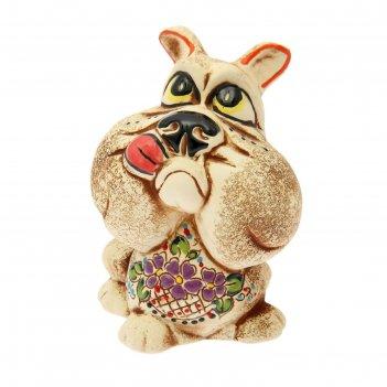 Статуэтка собака №3 шамот