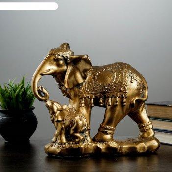 Фигура слон со слонёнком 15х27х27 см