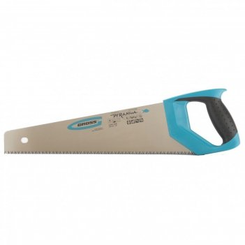 Ножовка по дереву gross piranha, 450 мм, 11-12 tpi, каленый зуб - 3d