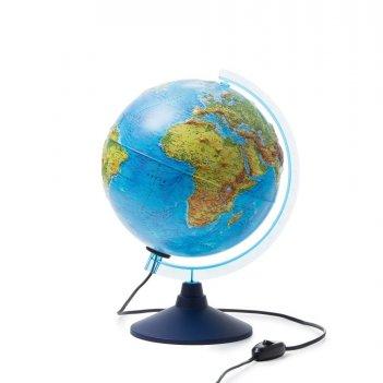Глобус globen int12500286 физико-политический рельефный с подсветкой 250