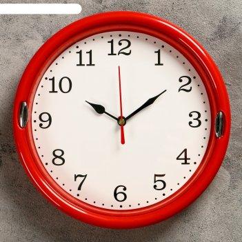 Часы настенные, серия: классика, футроно, d=22 см, микс