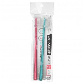 Зубная щётка okazaki, с платиновыми наночастицами, микс, 2 шт.