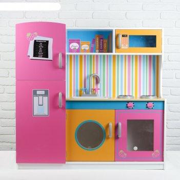 Игровой набор кухня цвет розовый