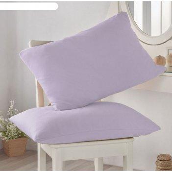 Наволочка, размер 50 x 70 см-2 шт, цвет лиловый