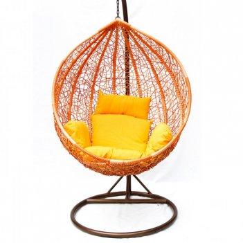Плетеные качели kvimol km-0001 средняя корзина, садовая мебель