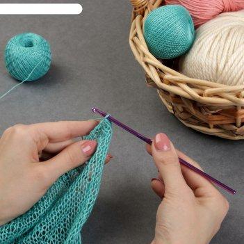 Крючок для вязания, d = 3,5 мм, 15 см, цвет микс