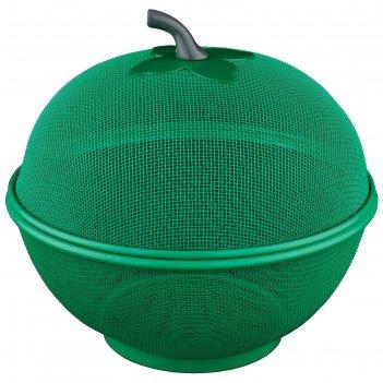 Фруктовница с крышкой, цвет зеленый