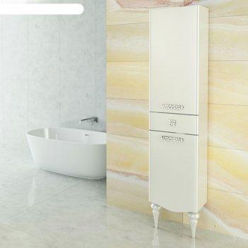 Шкаф-колонна comforty «монако-40» левый белый