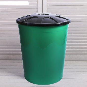 Бак универсальный, 225 л, с крышкой, зелёный
