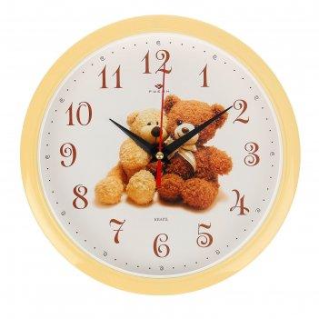 Часы настенные, серия: детские, мишки, 22х22 см