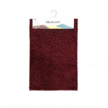 Коврик для ванной multisoft, цвет бордо, 60х90 см