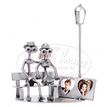 039  влюбленные на скамейке, подставка для фото