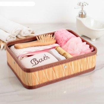 Набор банный 7 предметов: 4 мочалки, расческа, пемза, массажёр, цвет микс