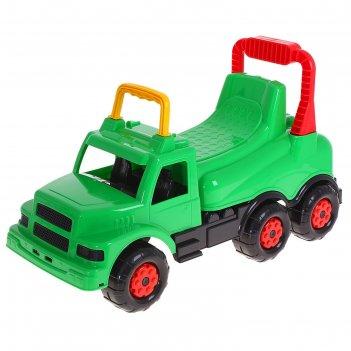 Машинка детская весёлые гонки зеленая для мальчиков м4483