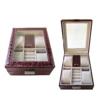 Шкатулка для украшений и часов, 16х20х7,5 см