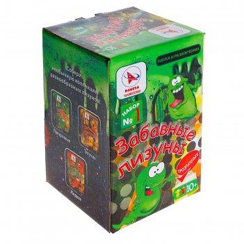 Набор для опытов забавные лизуны №1 зеленые