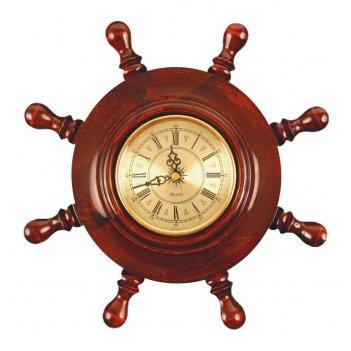 Шчст-с03 штурвал сувенирный, часы (8 ручек)