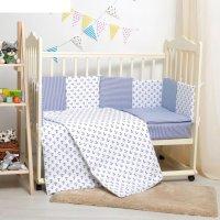 Комплект в кроватку 6 пр. кубики для мальчика, бязь, хл100 120 гм