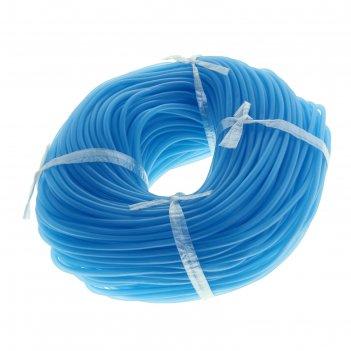 Шланг силиконовый в бухте (голубой) (ф-4мм) 100 метров а12-10012