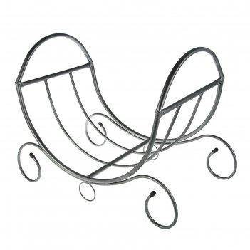 Дровница огонёк, цвет серебристый антик, 60х40х55см