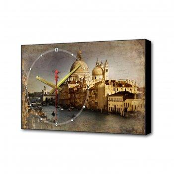 Часы настенные, серия: город, собор в венеции, 37х60 см микс