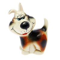 Статуэтка собака хитрюга, глазурь, 10 x 7 x 14 см, микс