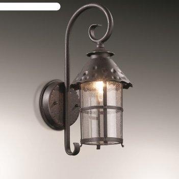 Уличный настенный светильник lumi, 1x60вт, e27, ip44, цвет коричневый