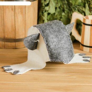 Банная шапка детская «кошка», войлок, эконом