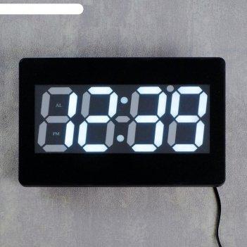 Часы настенные электронные aoye: время, дата, будильник, температура, цифр