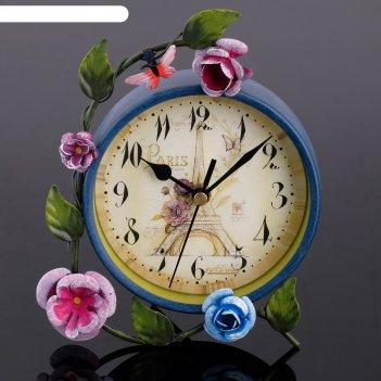Часы настольные лужайка, d=11 см